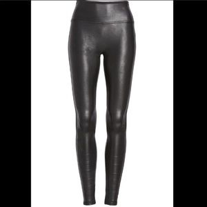 SPANX Faux Leather hi waisted full length